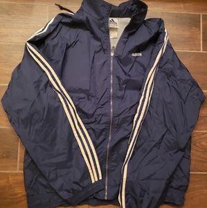 Adidas Windbreaker Mens Jacket XL Vintage Blue